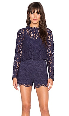 SAYLOR Savannah Romper in Navy