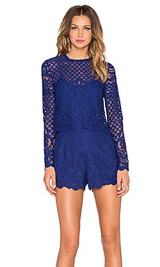 SAYLOR Natalie Romper in Deep Blue