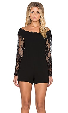 SAYLOR Arya Romper in Black