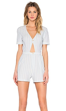 Willa Romper in Blue & Creme