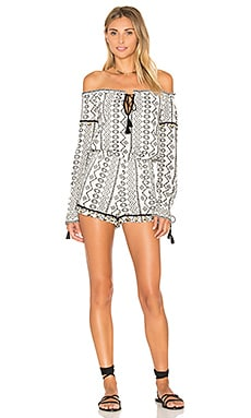 SAYLOR Lorri Romper in White & Black