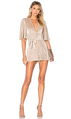 Emeline Romper in Gold