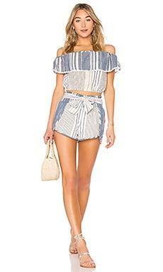 Купить Топ с открытыми плечами и шорты thia - SAYLOR синего цвета
