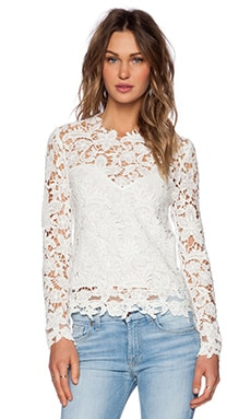 SAYLOR Etta Top in White
