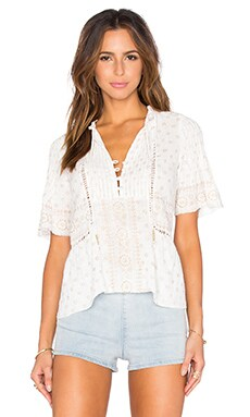SAYLOR Gypsy Top in Gold & Creme