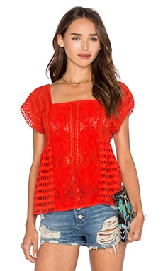 SAYLOR Gala Top in Fire