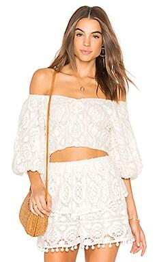 Купить Топ со спущенными плечами nova - SAYLOR белого цвета