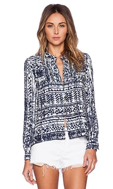 SAYLOR Jael Top in Blue & White