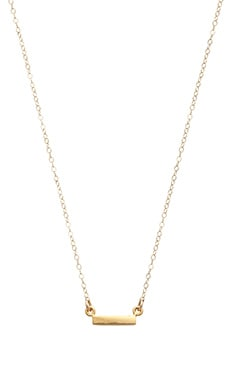 Stella and Bow Bar Necklace in Gold