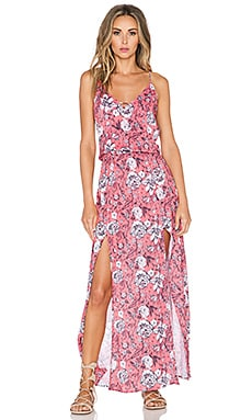 Sofia by Vix Swimwear Maxi Dress in Jardin Pink