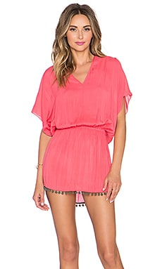 Sofia by Vix Swimwear Calif V Caftan in Blush Pink