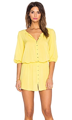SOFIA by ViX Dina Mini Dress in Solid Yellow