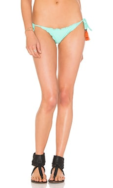 SOFIA by Vix Swimwear Ripple Tie Side Bikini Bottom in Solid Fresh Mint