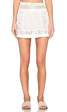 SOFIA by ViX Crochet Skirt in Solid White