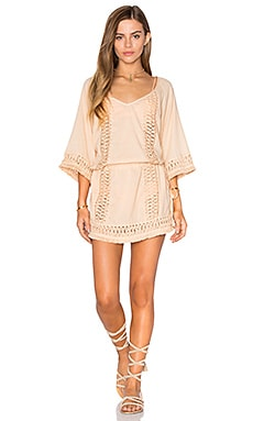 SOFIA by ViX Crochet Caftan in Nude