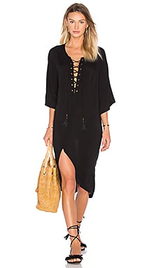SOFIA by ViX Nikki Caftan in Solid Black