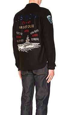 Embellished CPO Wool Shirt
