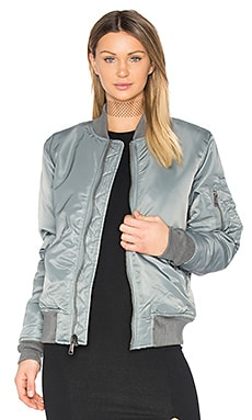 Nylon Flight Jacket en Gris
