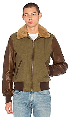 B-15 Flight Jacket with Sheep Fur Collar