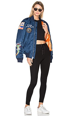 Nylon MA-1 Flight Souvenir Jacket