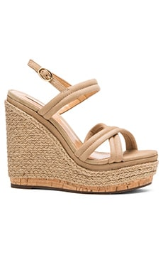 Schutz Evy Wedge in Brush Sand