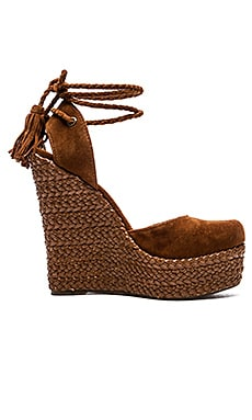Schutz Eleanor Wedge in Wood