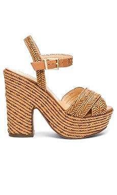 Schutz Aileen Platform Sandal in Bamboo