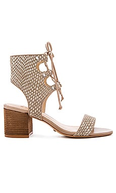 Schutz Darby Calf Hair Sandal in Brush Sand