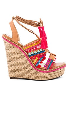 Schutz Mella Wedge in Bamboo