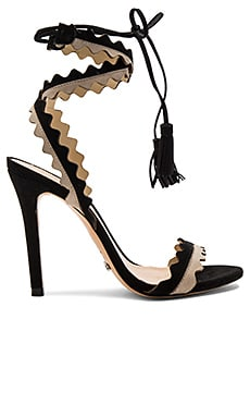 Lisana Heel in Oyster & Black