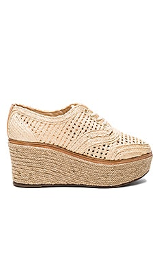 Jules Espadrille Flatform en Natural & Amber Light