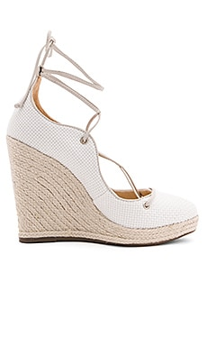 Lunna Wedge in Branco & Pearl