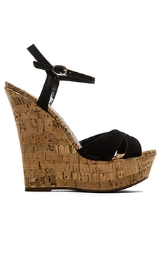 Schutz Emiliana Wedge in Black