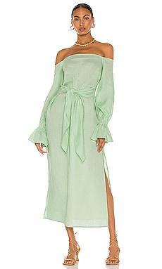 Off Shoulder Maxi Linen Dress SELMACILEK $390