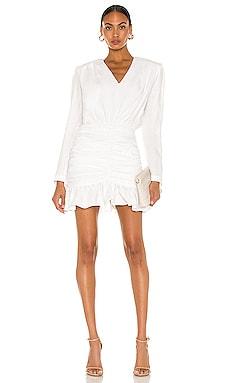 White Ruffled Linen Mini Dress SELMACILEK $428 Sustainable