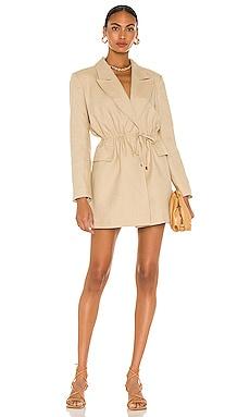 Waist Tie Detailed Linen Jacket Dress SELMACILEK $445 BEST SELLER