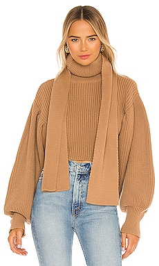 Neck Scarf Detailed Sweater SELMACILEK $300