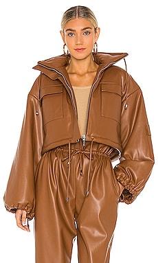 Puff Sleeve Vegan Leather Jacket SELMACILEK $575