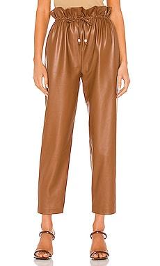 High Waist Vegan Leather Trousers SELMACILEK $234