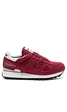Saucony Shadow Vegan in Burgundy