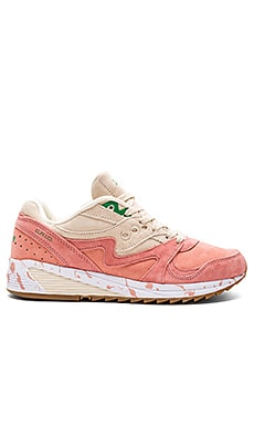 Saucony Shrimp Scampi Grid 8000 CL in Pink & Cream