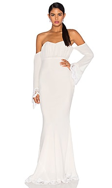 STONE_COLD_FOX Mariella Gown in White