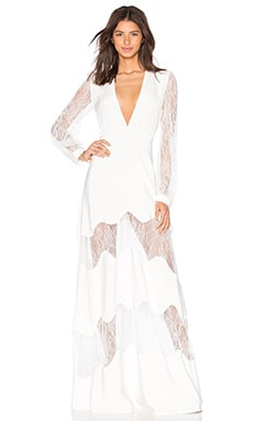STONE_COLD_FOX Friar Gown in White