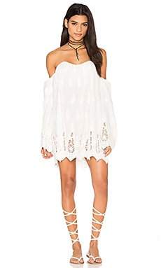 STONE_COLD_FOX Marrakech Dress in White Eyelet Lace