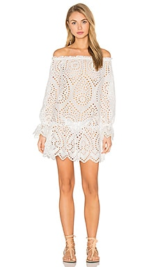 STONE_COLD_FOX Lily Dress in White Eyelet