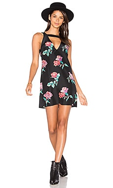 Lotus Dress in Black Peony Print