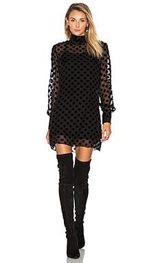 STONE_COLD_FOX Shimo Dress in Black Velvet Dot