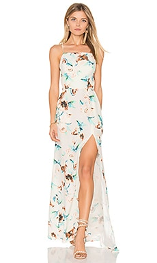 Moss Gown in Ivory Cosmo Print