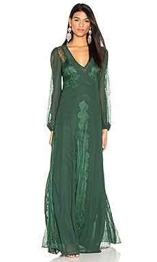 Vermont Gown in Emerald Green