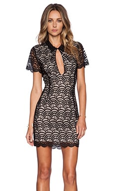 STONE_COLD_FOX Luke Dress in Black & Tan